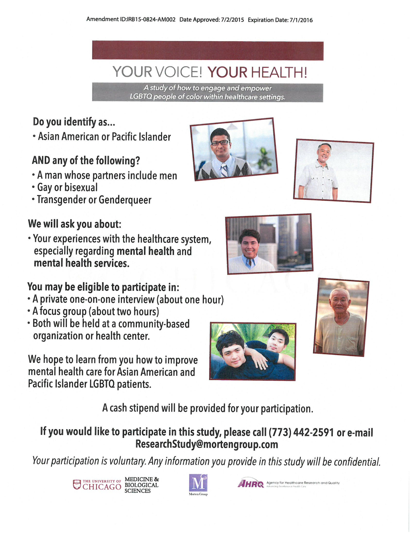 Your Voice Your Health API flyer 0316